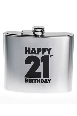 Happy 21st Birthday Hip Flask