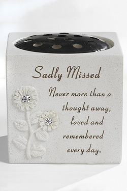 Diamante Rose Memorial Vase
