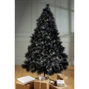 Black Bushy Glitter Tree