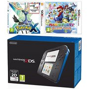 Nintendo 2DS - Black/Blue & 3DS Pok...
