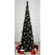 Black Lit & Decorated Pop-Up Tree