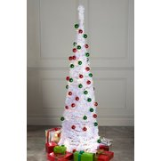 White Lit & Decorated Pop-Up Tree