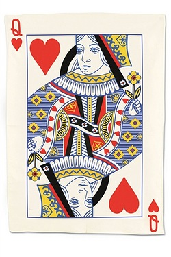 Queen Of Hearts - Tea Towel