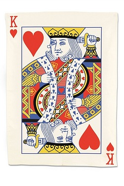 King Of Hearts - Tea Towel