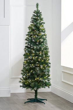 Frosted Deluxe Pre-Lit Tree With Wa...