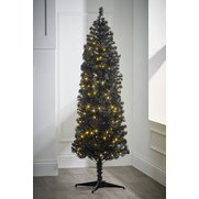 Black Deluxe Pre-Lit Tree With Warm...
