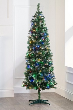 Frosted Deluxe Pre Lit Trees With M...