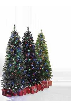 Black Deluxe Pre-Lit Tree With Mult...