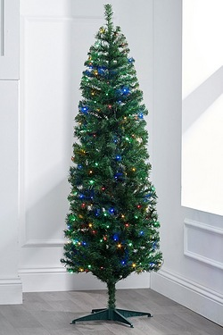 Green Deluxe Pre Lit Trees With Mul...