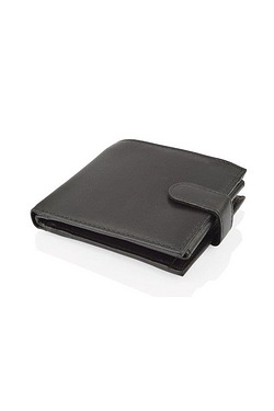 Woodland Tri Fold Black Leather Wallet