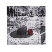 Hotel Chic Mono Red Rose Canvas
