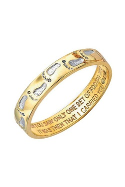 9Ct Gold Footprints Ring