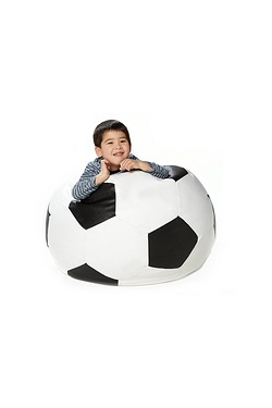 Football Faux Leather Beanbag Seat