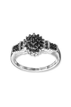 9ct White Gold 0.50ct Black Diamond...