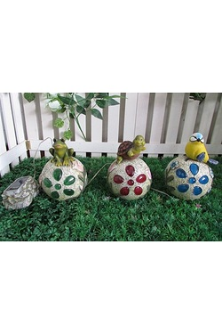 Solar Animal On Rocks - Set of 3