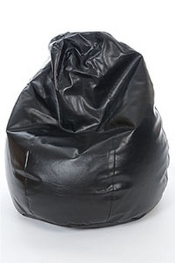 Tear Drop Faux Leather Beanbag