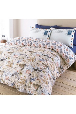 Postcards Duvet Set