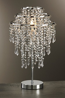 Silver Bead Table Lamp