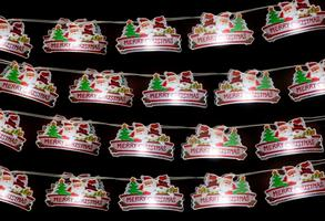Image of 20 Battery Operated PVC Xmas Signs