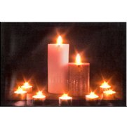Battery Operated 9 LED Candle Wall ...