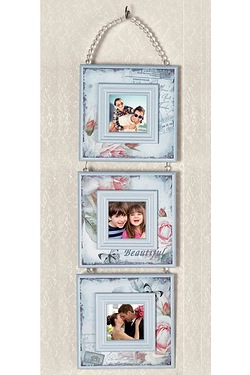 3 Picture Hanging Photo Frame