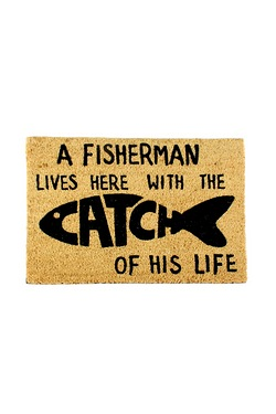 Catch Of His Life Coir Doormat