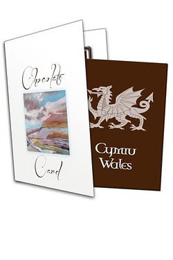 Welsh Dragon Chocolate Greetings Card