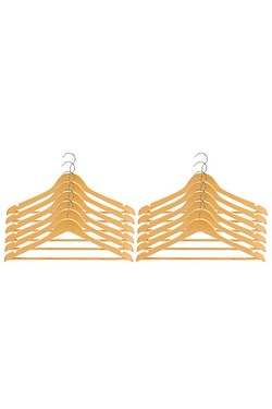 Set Of 12 Wooden Clothes Hangers