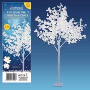 320 LED White Leafed Tree