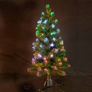 Green Fibre Optic Christmas Tree