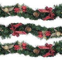 Image of 9ft Poinsettia Garland