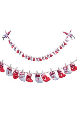 200cm Santa Advent Garland