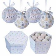 14 Piece Frost Decoupage Bauble