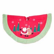 Santa & Reindeer Tree Skirt
