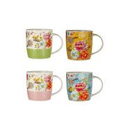 Set Of 4 Flower Mugs