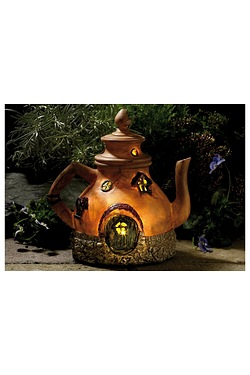 Solar Fairy House Teapot