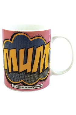 Comic Book Mum Porcelain Mug