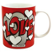 Comic Book Love Porcelain Mug
