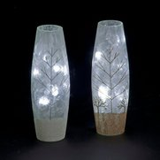 Lit Slim Linear Tree Glass Vase