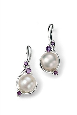 Pearl And Amethyst Earring