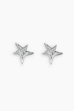 Cubic Zirconia Set Star Studs