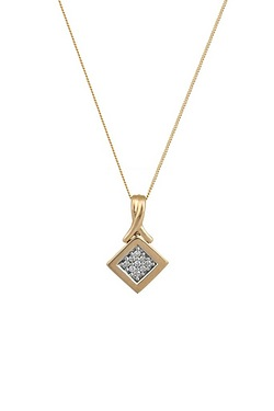 9ct Yellow Gold 0.10 Diamond Pendant