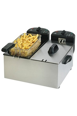Team 2x3L 2200W Double Pro Fryer