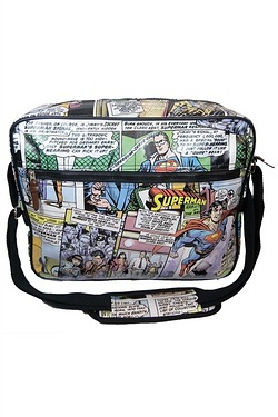 Superman Flies Messenger Bag