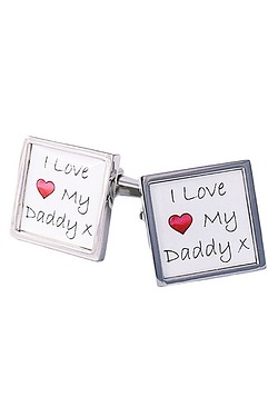 I Love My Daddy Boarder Cufflinks
