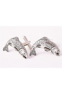 Trout Pewter Cufflinks