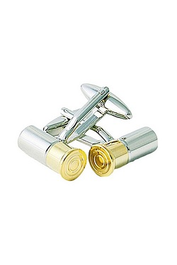 2 Tone Shotgun Shell Cufflinks