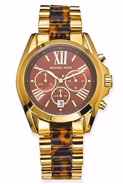 Michael Kors Tortoise Bradshaw Watch