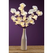 LED White Orchid With Vase