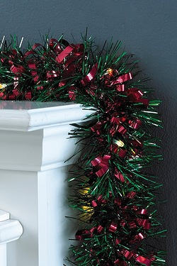 LED Tinsel Garland